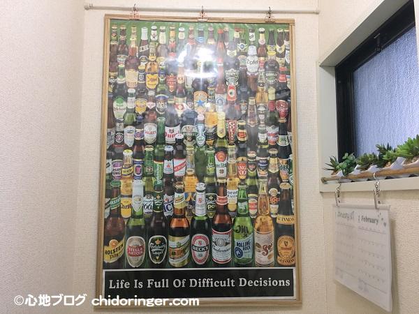 壁に穴を開けずに飾ったポスター