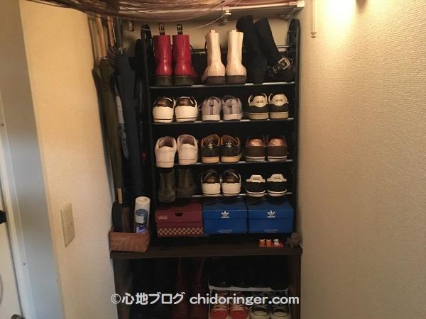 賃貸アパート靴の収納増やした