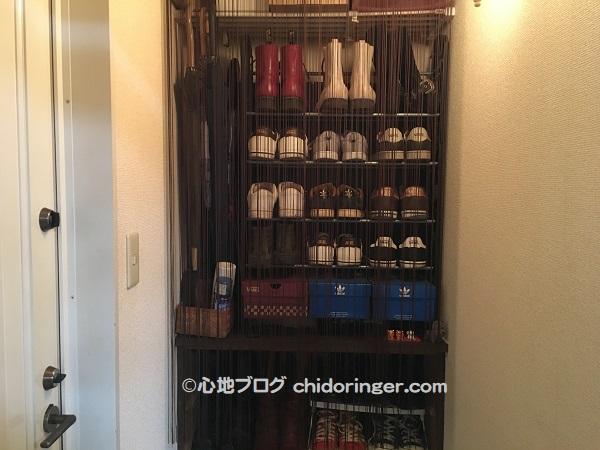 賃貸アパート靴の収納目隠し